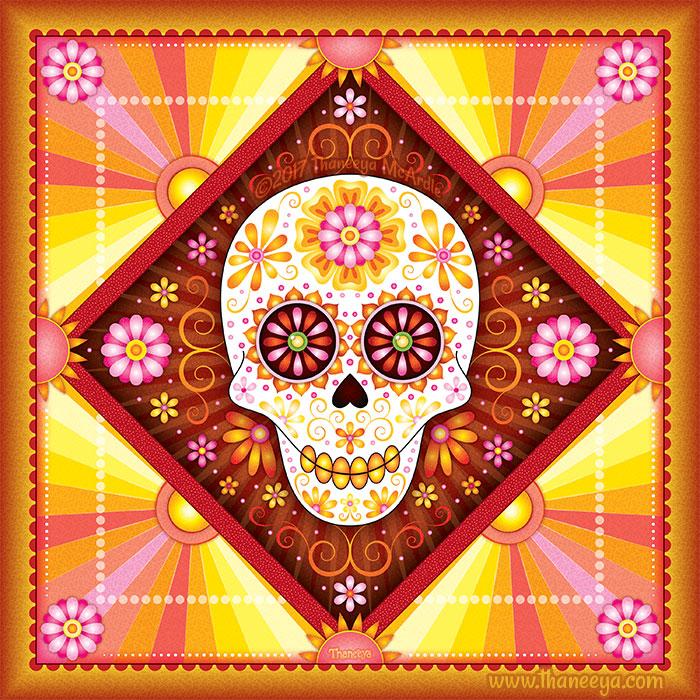 Solar Sugar Skull Art by Thaneeya McArdle