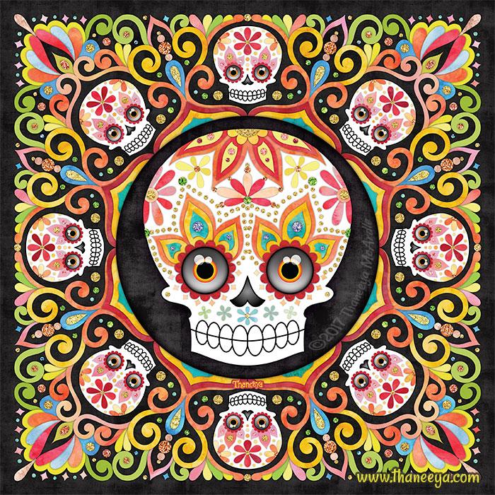 Skullster Sugar Skull Art by Thaneeya McArdle