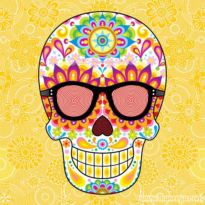 X-Ray Glasses Sugar Skull by Thaneeya McArdle