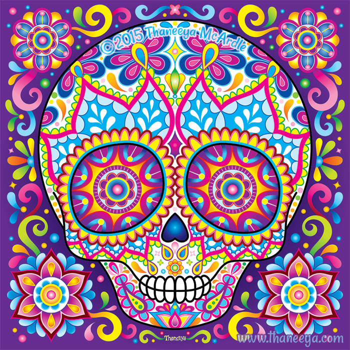 Cute Sugar Skull Simon by Thaneeya McArdle