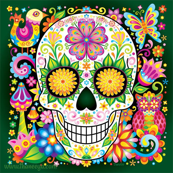 Nature Sugar Skull by Thaneeya McArdle