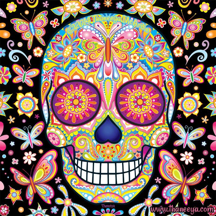 Sugar Skull Butterflies by Thaneeya McArdle