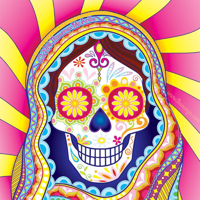 Gypsy Mary Sugar Skull by Thaneeya