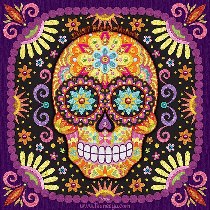 Viva Sugar Skull Art by Thaneeya McArdle