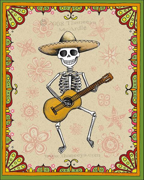 Dancing Skeleton 2008 by Thaneeya