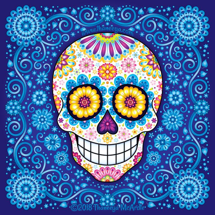 Rhapsody in Blue Sugar Skull by Thaneeya McArdle