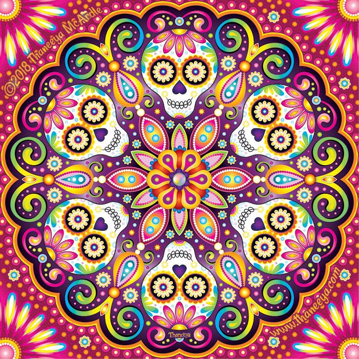 Spin Sugar Skull by Thaneeya McArdle