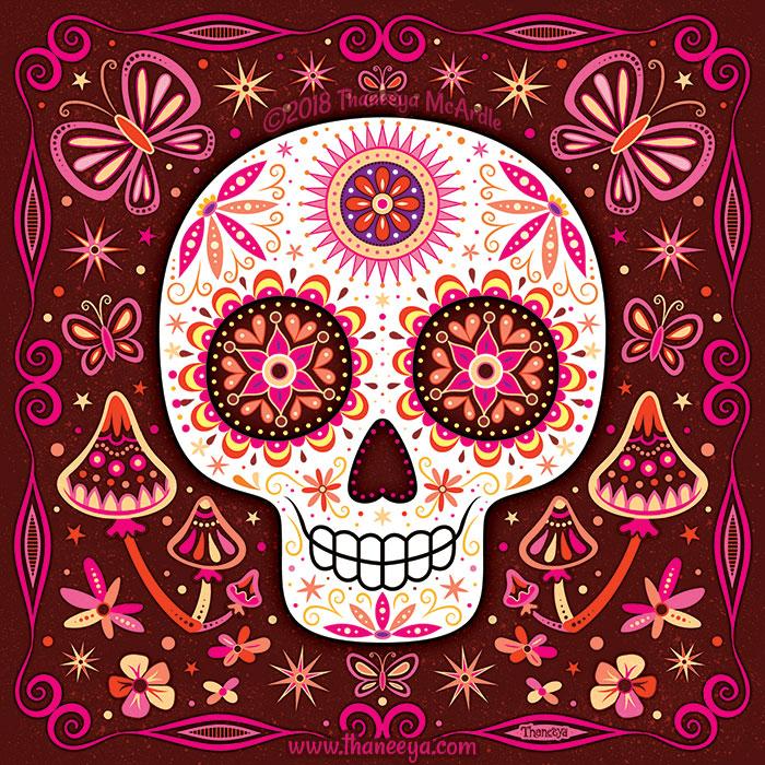 Sage Sugar Skull by Thaneeya McArdle