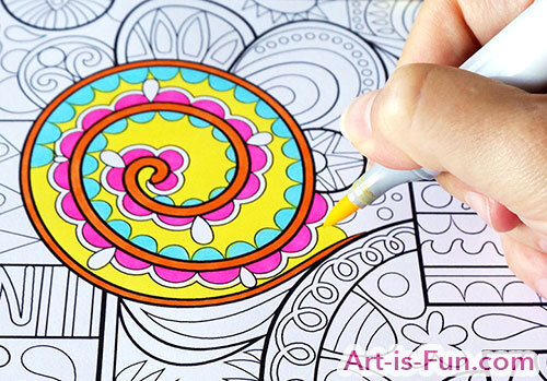 Coloring with ArtBeek Markers