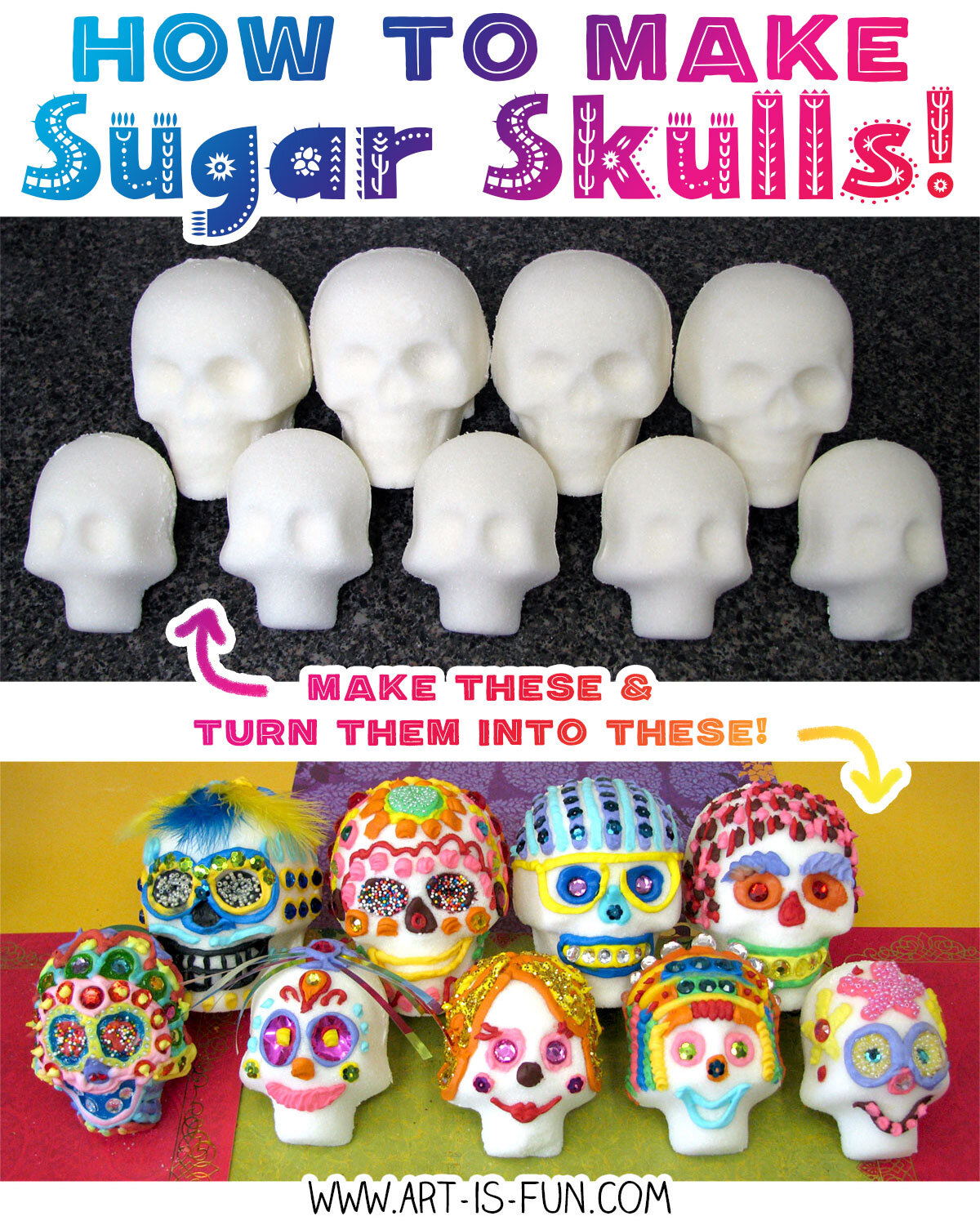 Learn how to make real Day of the Dead sugar skulls for Día de Muertos!