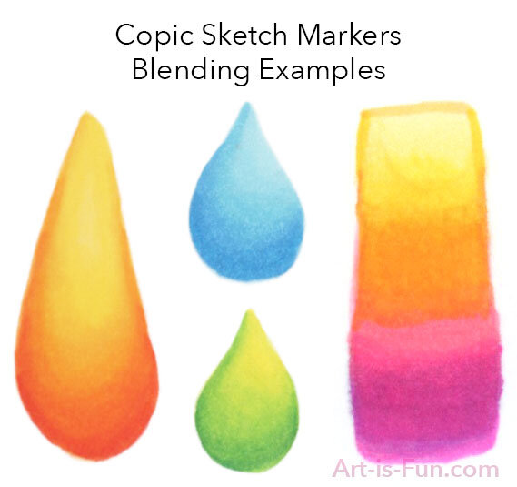 copic sketch markers blending examples