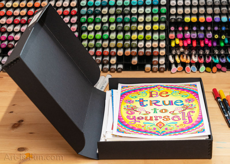 I protect my coloring pages in an archival box