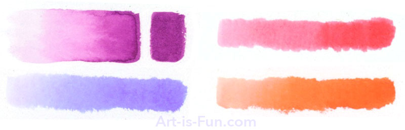 Creating washes with water-based markers
