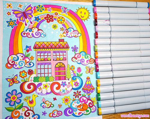 Double rainbow follow your bliss coloring page by Thaneeya McArdle