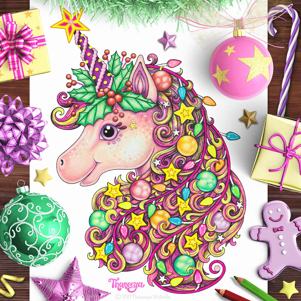Unicorn Coloring Page Tutorial Detailed Coloring Lesson Tips Art Is Fun