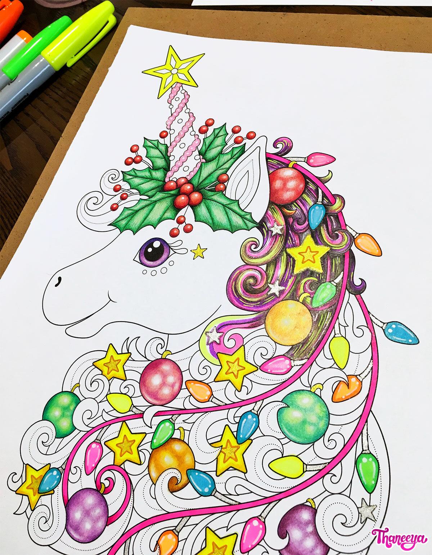 betway必威官网app给我的圣诞独角兽彩页上色