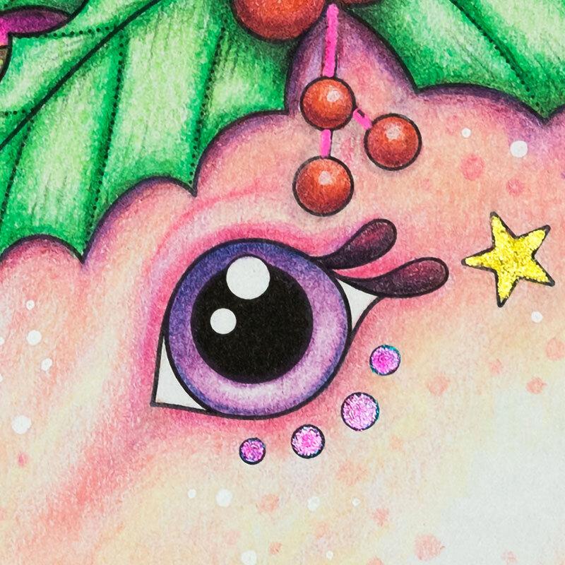 我的圣诞节独角兽的眼睛的特写镜头