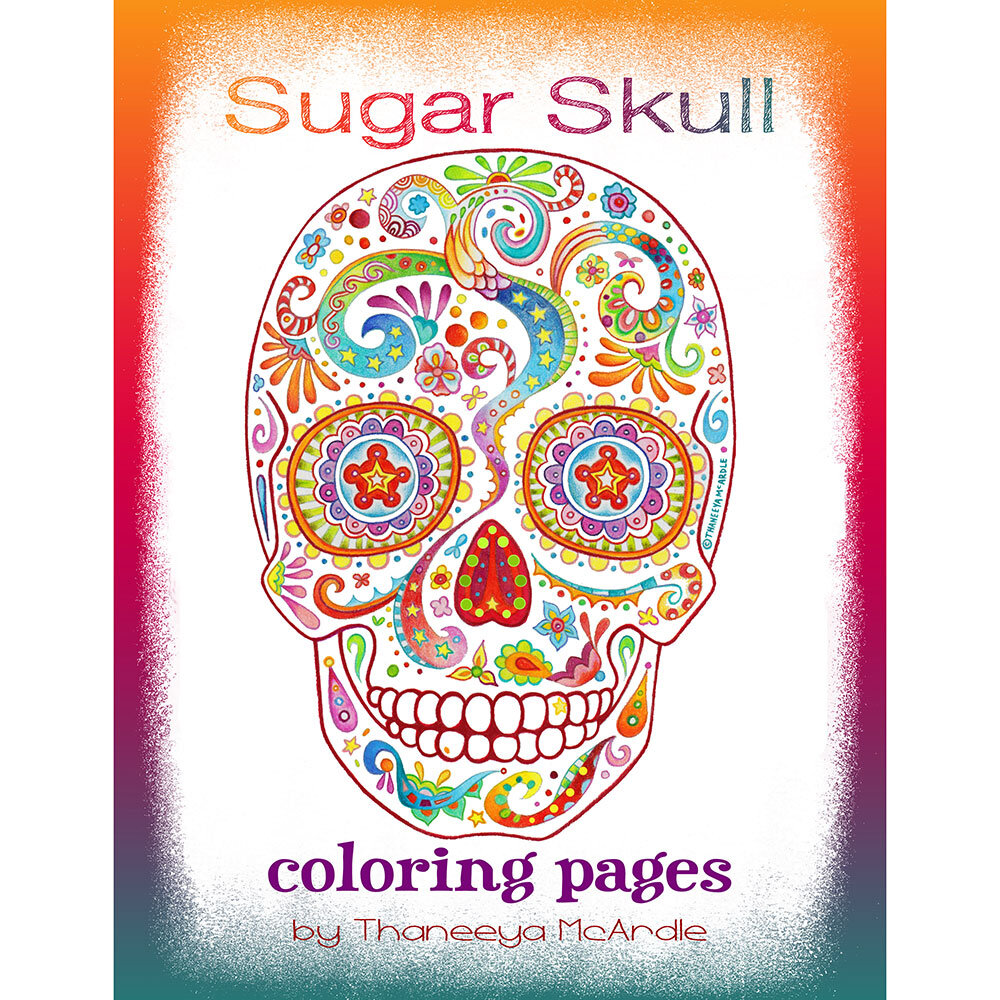 printable-sugar-skull-coloring-pages | Skull coloring pages, Sugar ... | 1000x1000