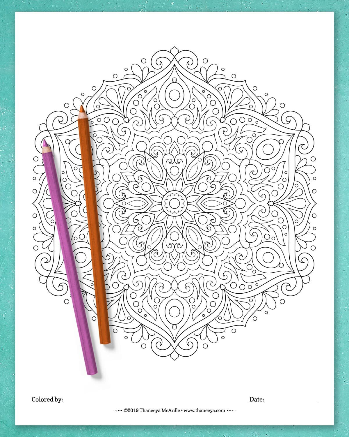 Detailed Mandala Coloring Pages - Fun Printable Coloring ...