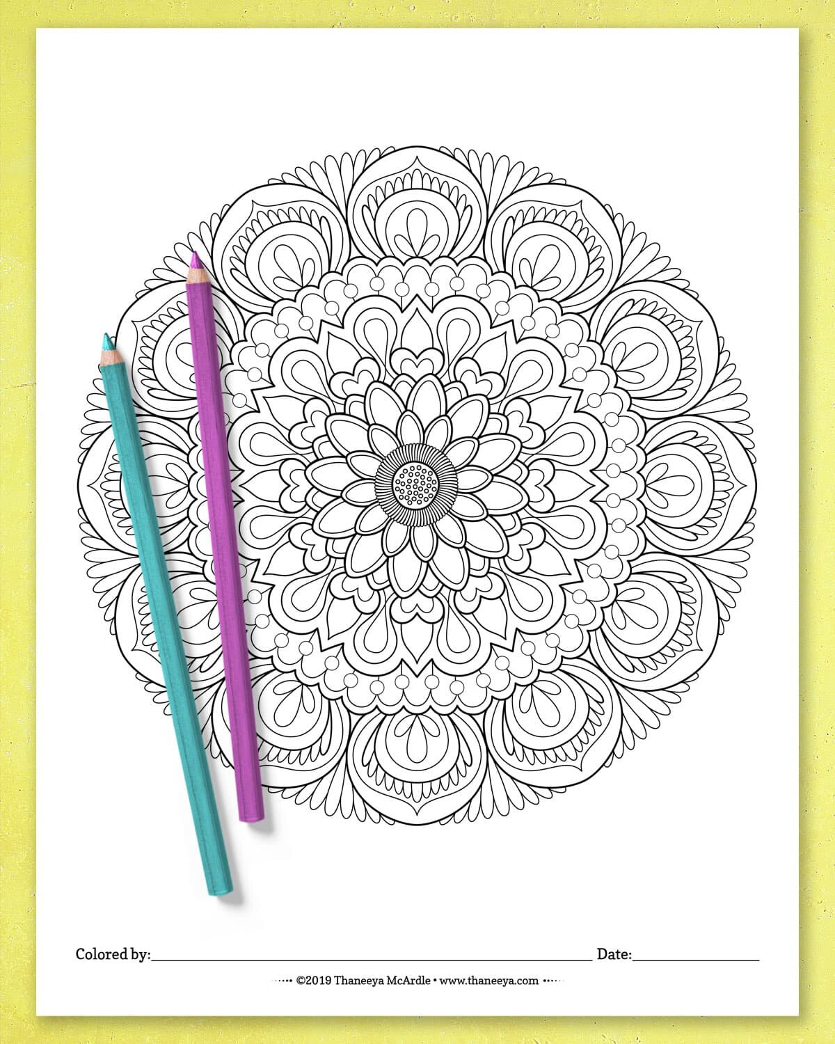 Flower Mandala Coloring Pages - Best Coloring Pages For Kids | 1250x1000