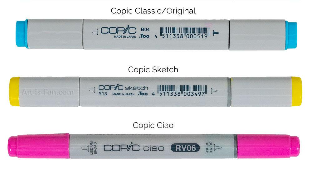 COPIC CIAO VS素描VS经典标记