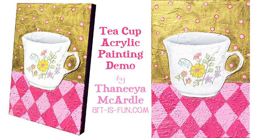 Thaneeya Mcardle的茶杯丙烯涂料纹理演示必威西蒙体育 欧盟体育