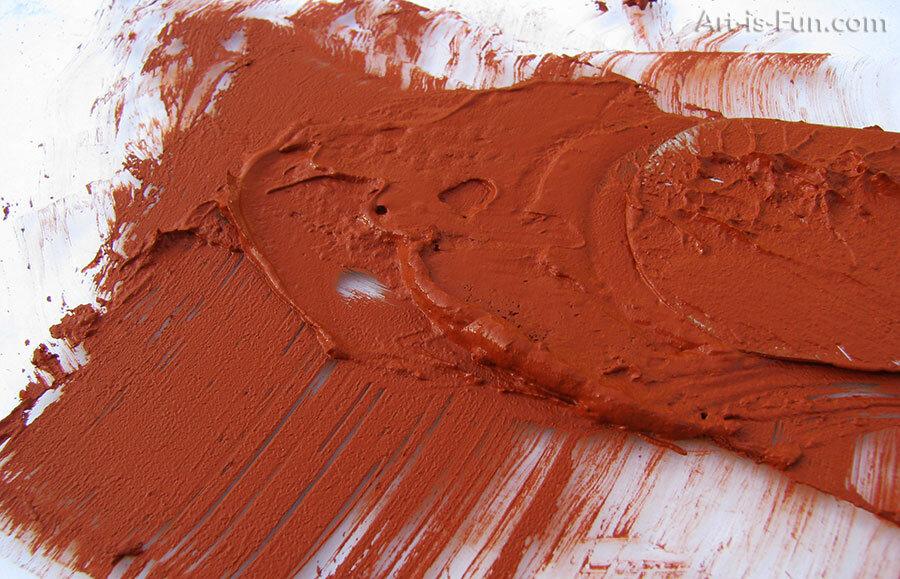 通过混合颜料和粘合剂来制作蜡笔