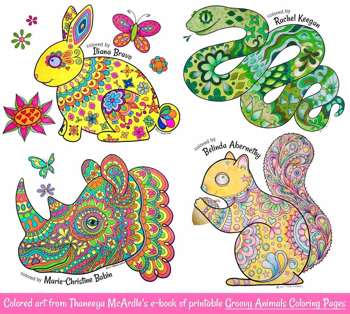 Groovy动物通过缅甸宏伟的betway必威官网app页面着色 -  20个异想天开的动物必威西蒙体育 欧盟体育插图,下载,打印和颜色!