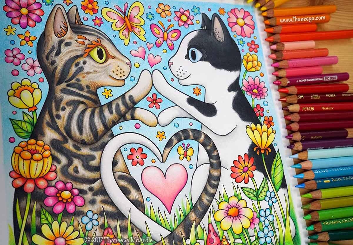 来自万博体育2018版我的爱情彩书的着色页,完全用Prismacolor Premier彩色铅笔色