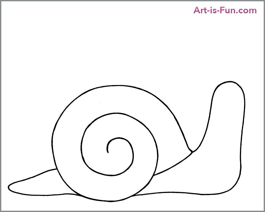 如何画可爱的蜗牛,第四步