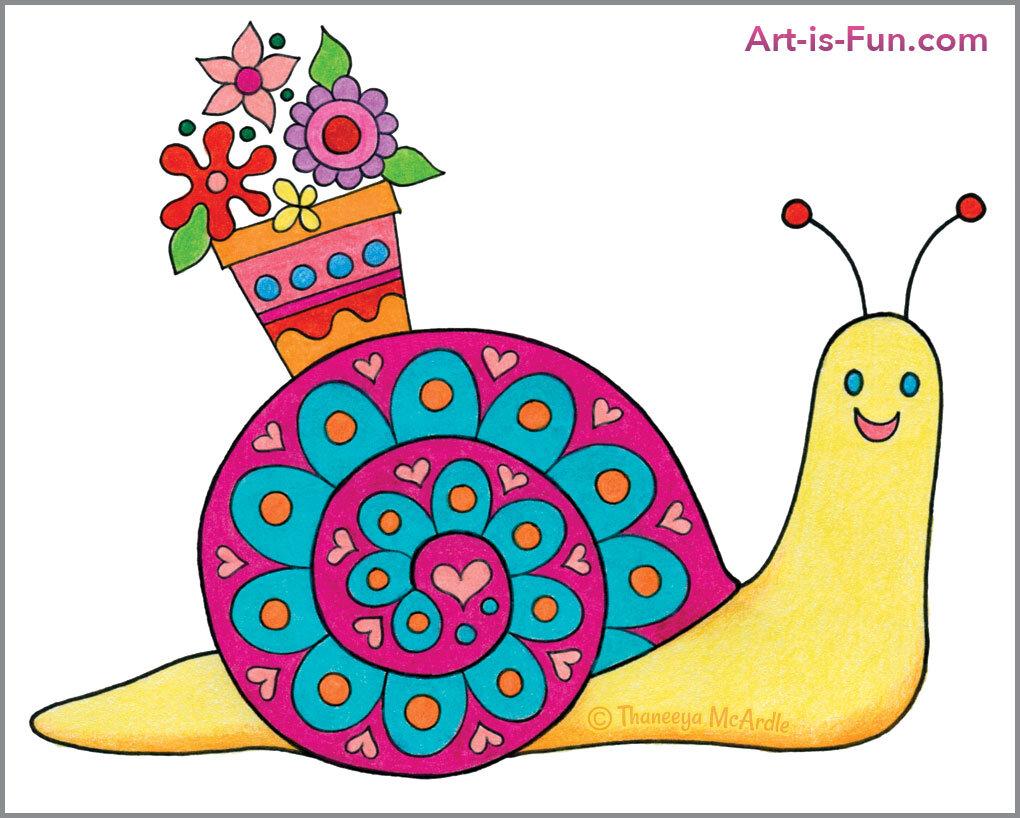 第八步如何画可爱的蜗牛
