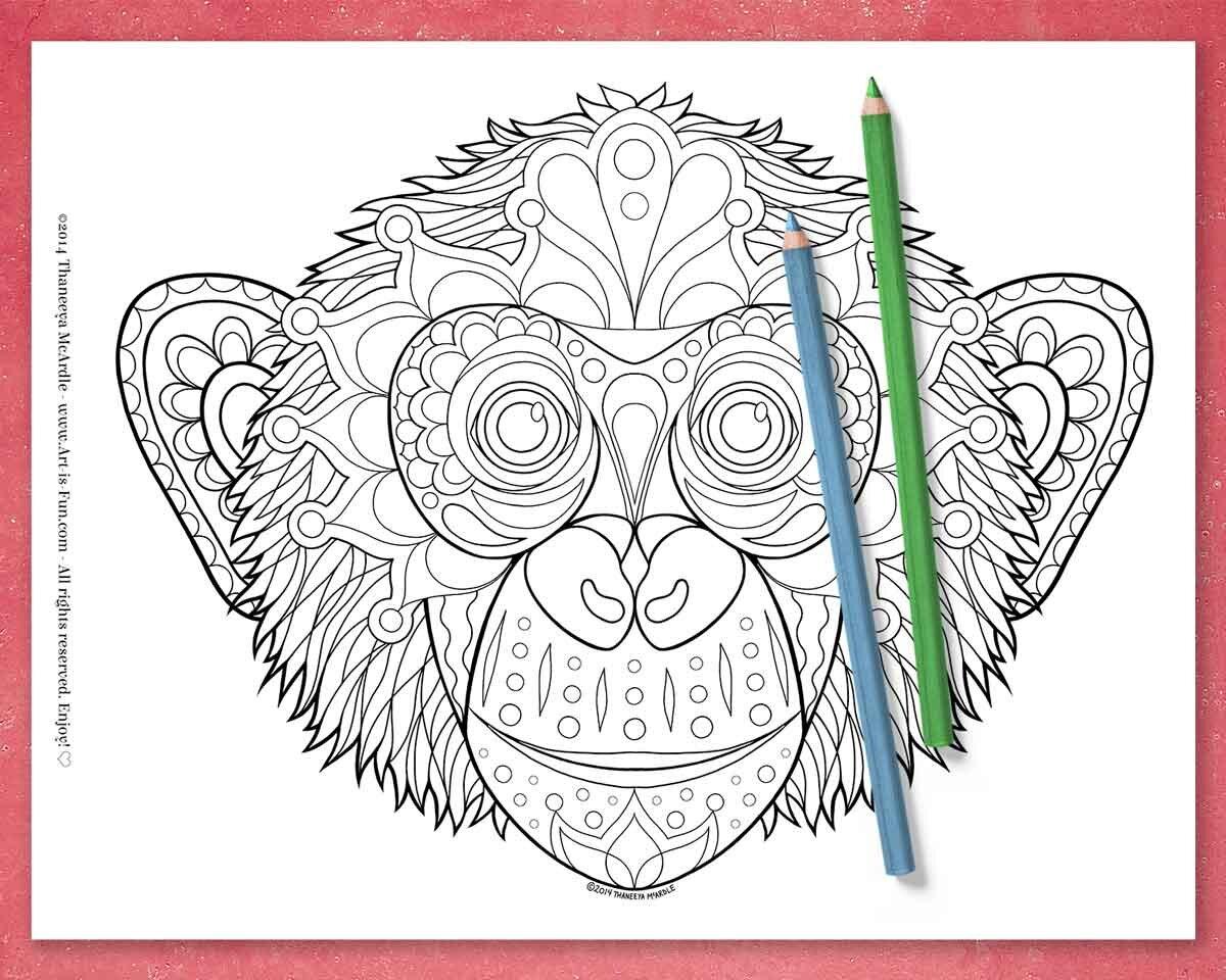 猩猩上色页面betway必威官网app由Thaneeya McArdle必威西蒙体育 欧盟体育 -即时下载