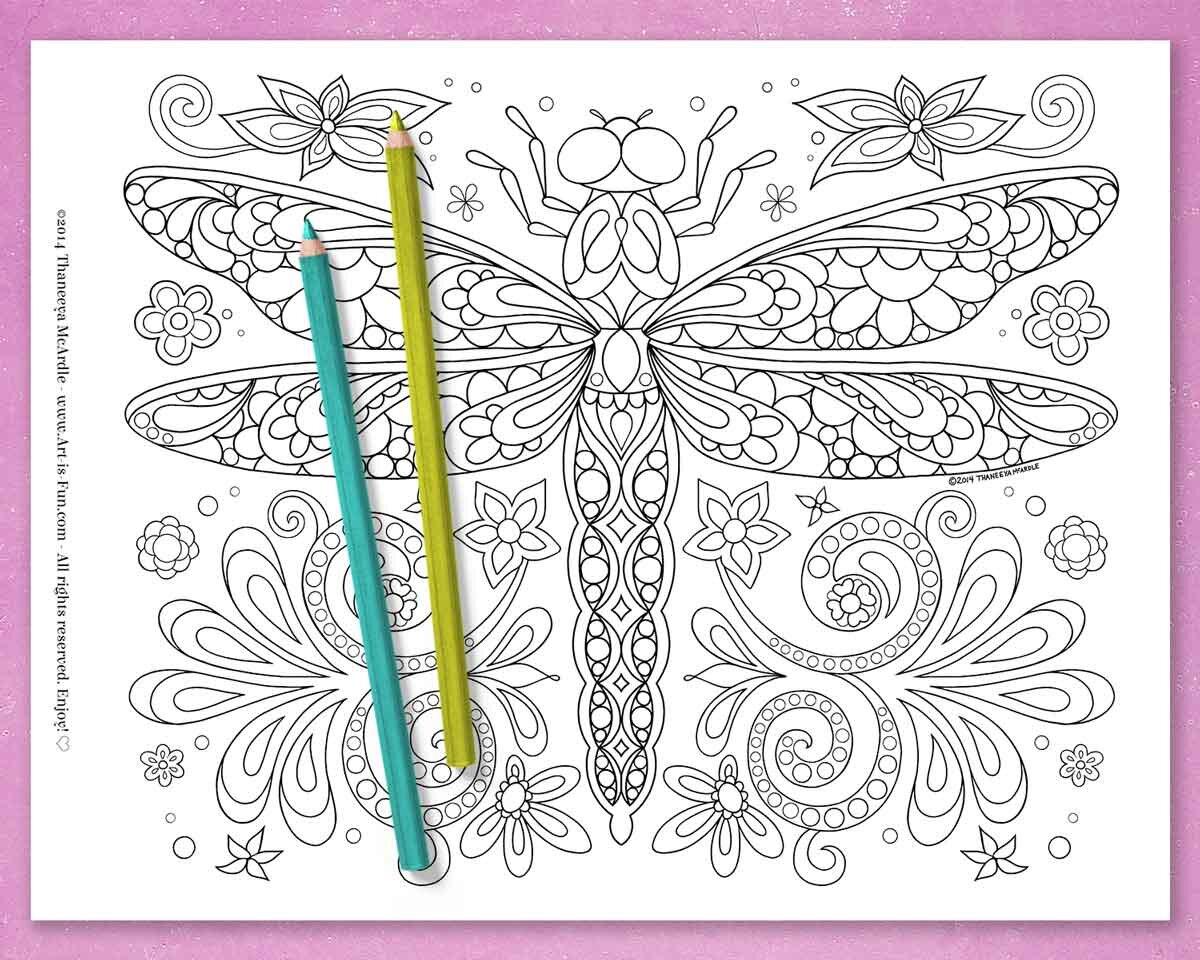 蜻蜓着色页面由Thabetway必威官网appneeya McArdle -即时必威西蒙体育 欧盟体育下载