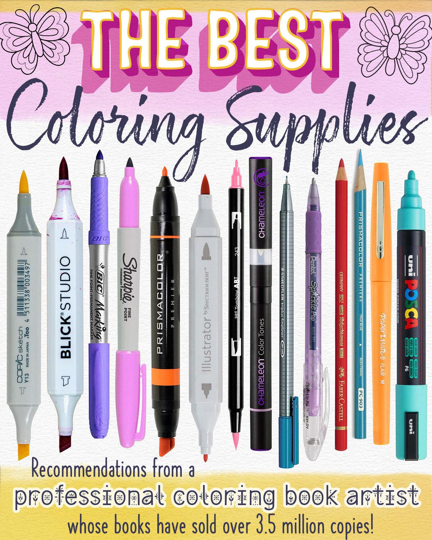 用于成人着betway必威官网app色书的最佳着色用品 - 专业着色书艺术家的建议书籍已销售超过350万份!