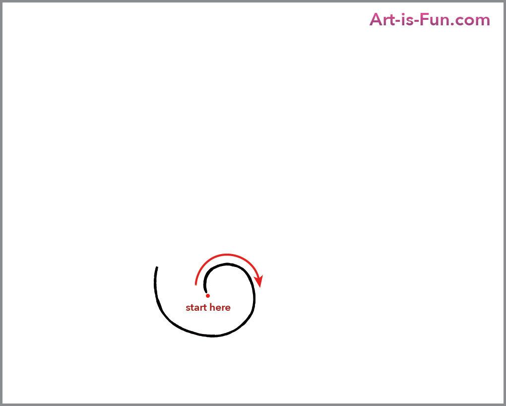 Как нарисовать милых улиток