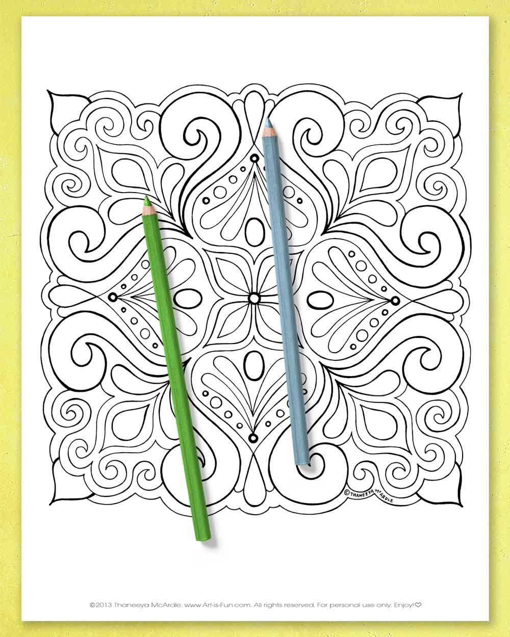 Abstract Coloring Pages Printable E Book Of Groovy Abstract Designs For You To Color Art Is Fun