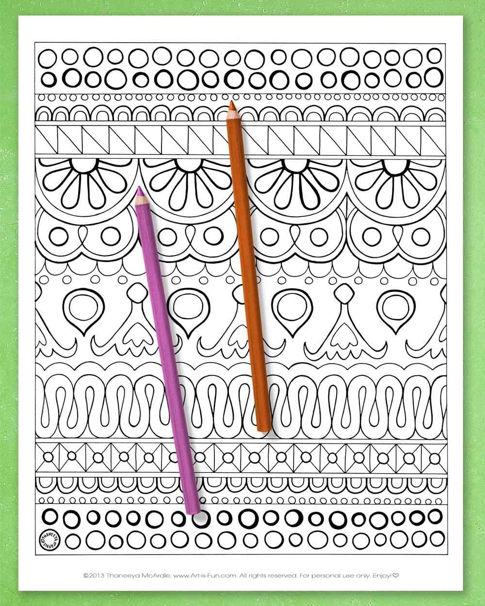 Thaneeya Mcardle的可打万博体育2018版印抽象着色页万博体育游戏平台