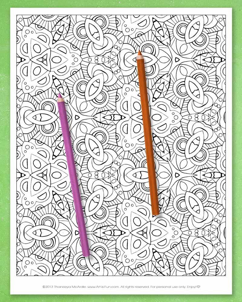 20个可打印的抽象图案彩色页面由thaneeya mcardlbetway必威官网appe必威西蒙体育 欧盟体育