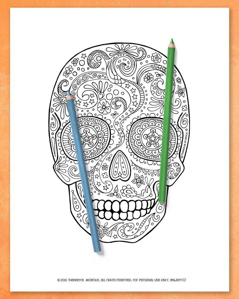 可印刷的糖头骨宣传麦卡德尔着色页必威西蒙体育 欧盟体育betway必威官网app