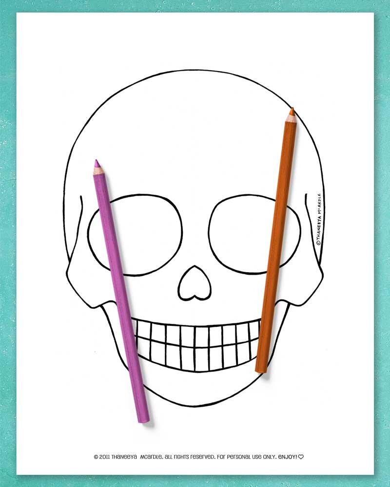 空白可打印的糖头骨宣传彩色页面彩色页面必威西蒙体育 欧盟体育betway必威官网app