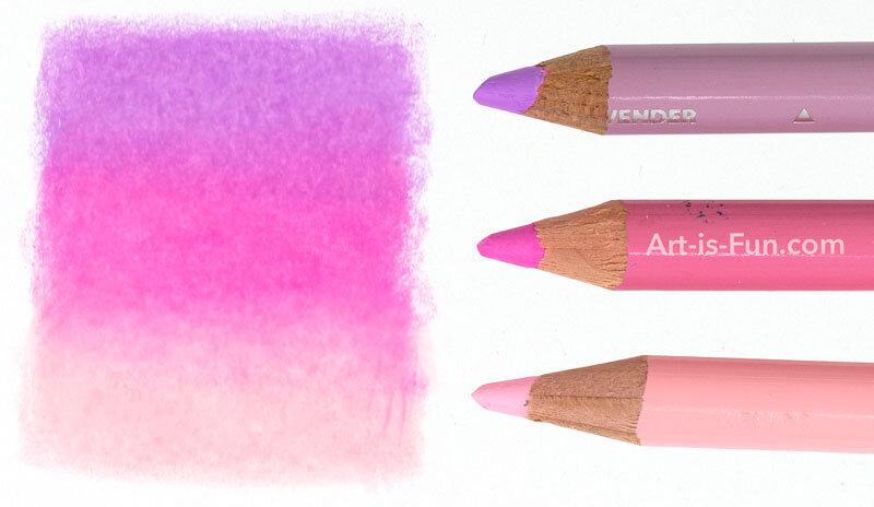 彩色铅笔混合示例