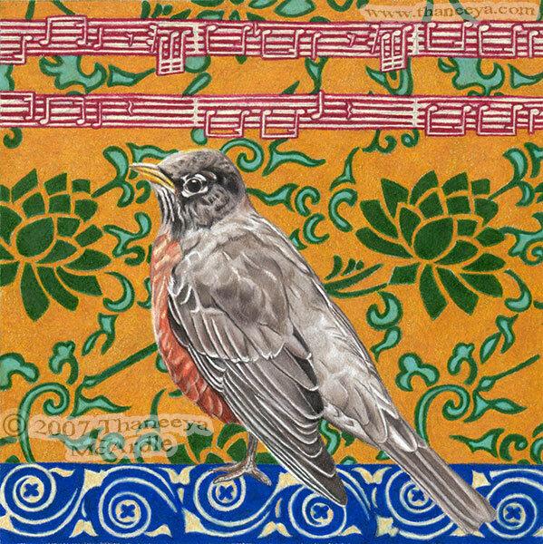 鸟类绘制的铅笔 -  by-thaneeya-2.jpg