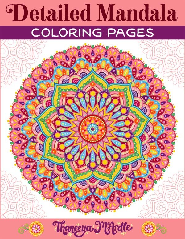 Printable Coloring Pages Fun Downloadable Adult Coloring Books By Thaneeya Mcardle Art Is Fun