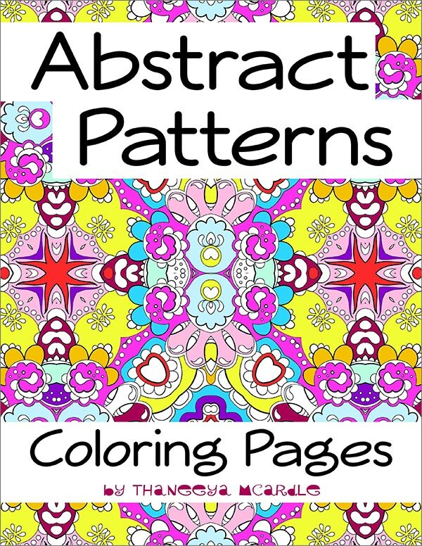 Abstract Patterns Coloring Pages - Printable E-Book Of Detailed Abstract Coloring  Pages — Art Is Fun