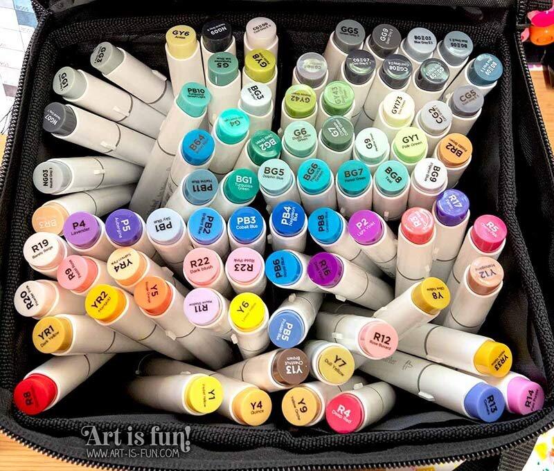 欧胡画笔标记- 120种颜色
