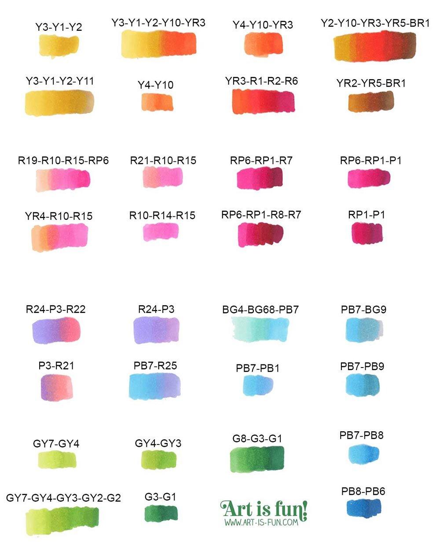 OHUHU 120醇刷和凿子标记的样品颜色混合物