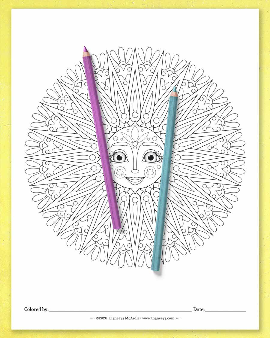 Sun Mandala Coloring Pages - Printable Coloring Pages by ...