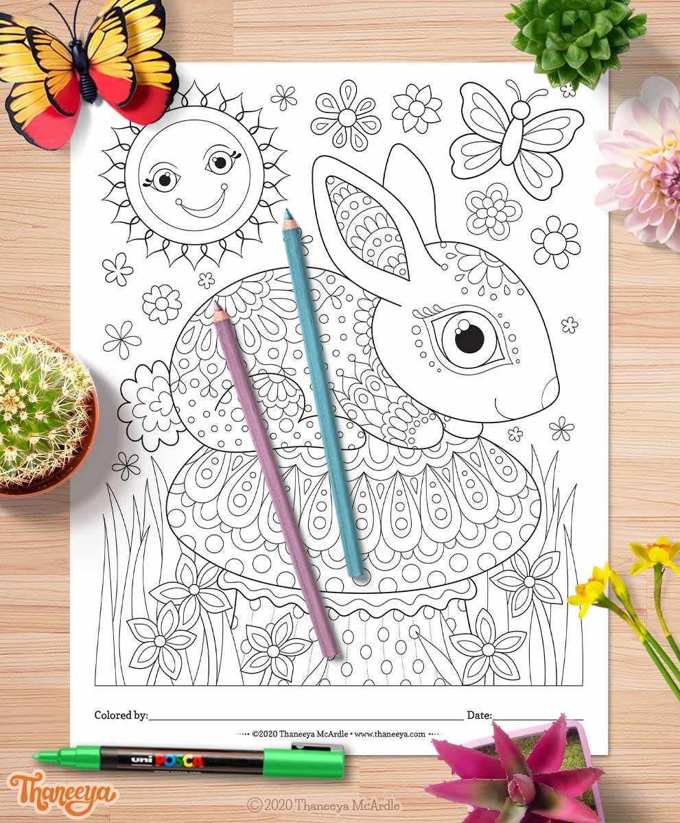 Thaneeya Mcbetway必威官网appArdle的一套10个prit的可爱兔必威西蒙体育 欧盟体育子涂色页面