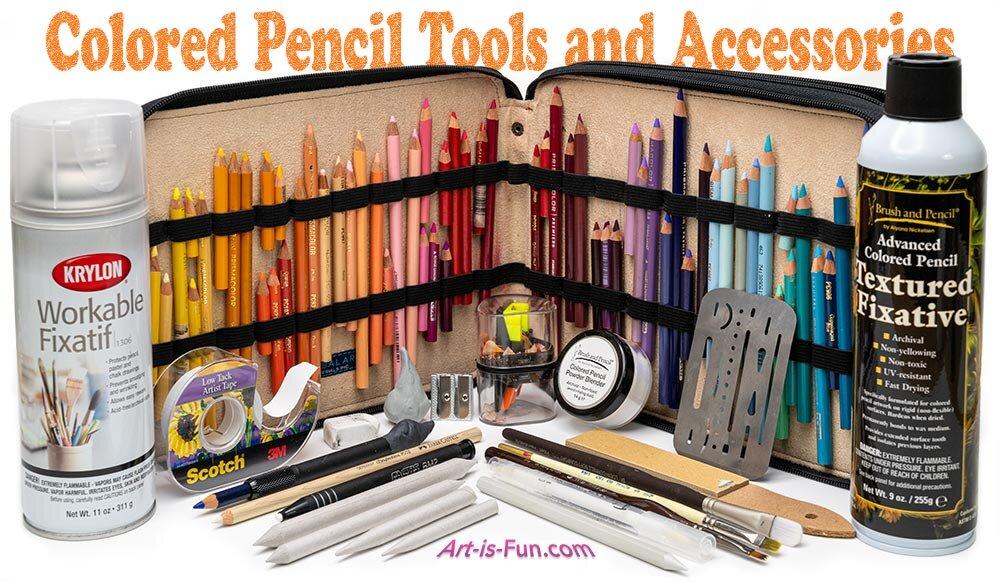 彩色铅笔工具和配件