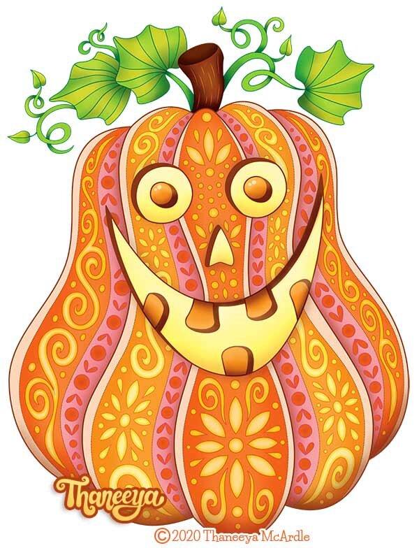 Halloween Jack O'Lantern着万博体育2018版色页从Thaneeya Mcardle万博体育游戏平台的10种可印刷万圣节着色页面